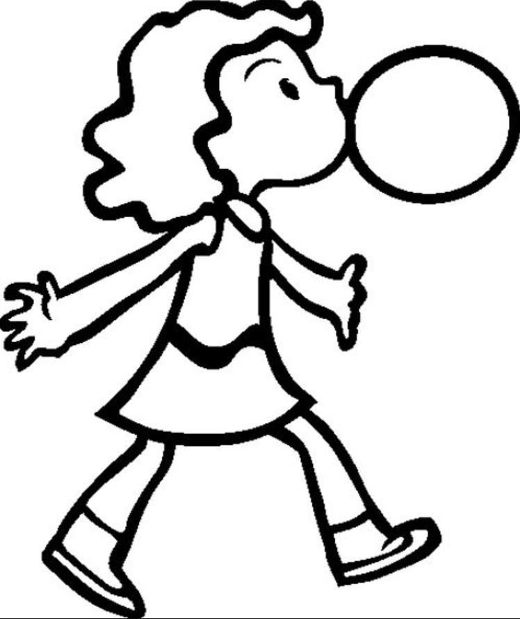 Девочка с жвачкой
