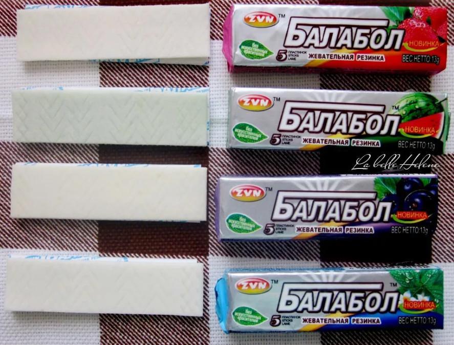 Разные вкусы жвачки балабол