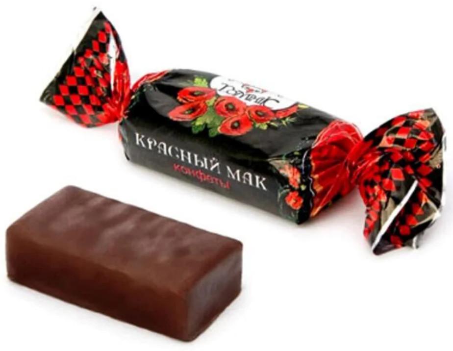 Красный мак конфета